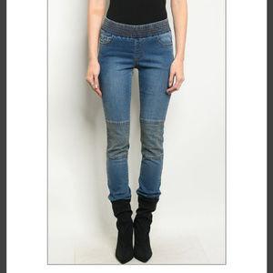 Denim - 👖 Banded waist skinny jeans